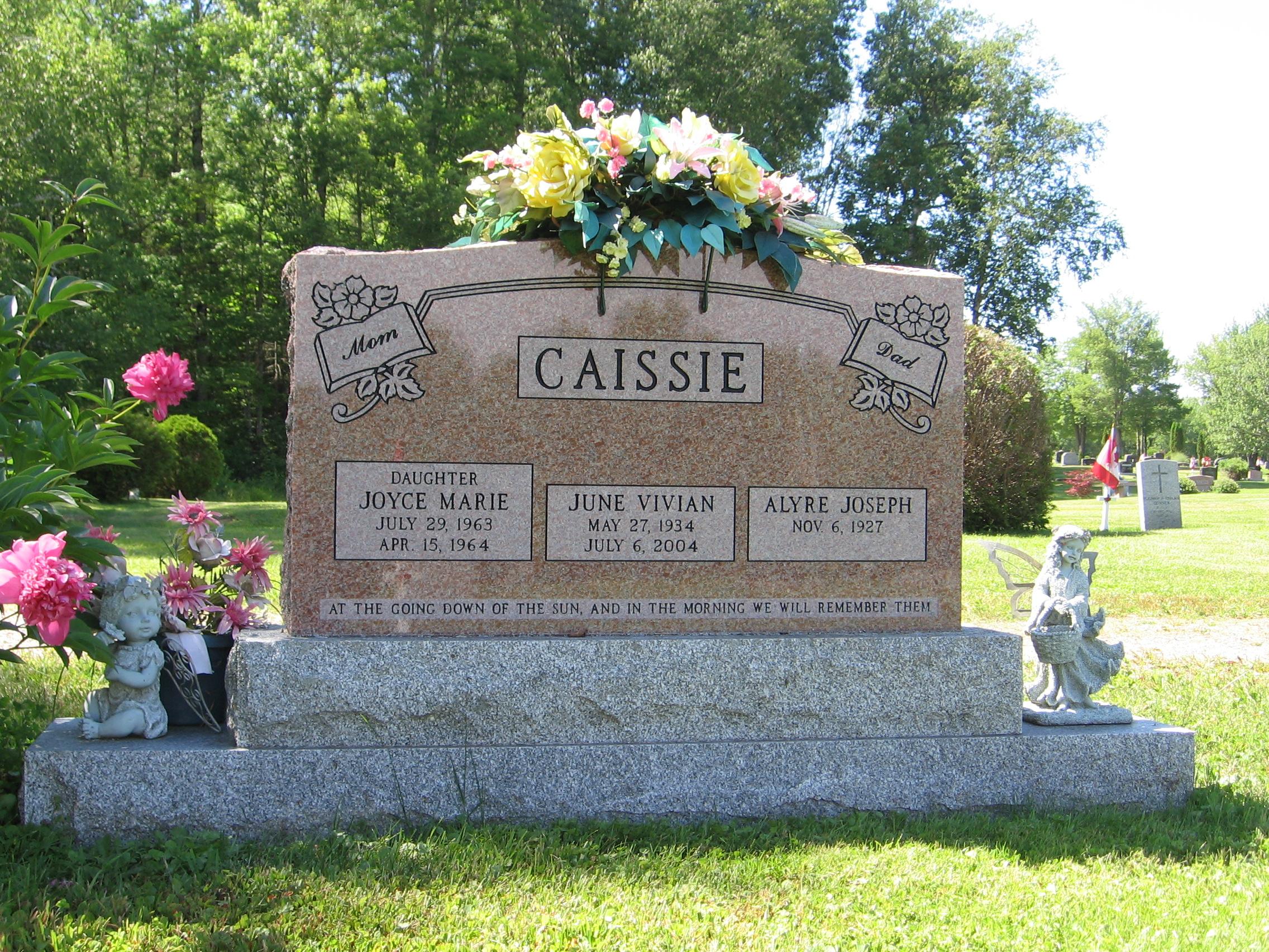 Caissie Joyce Marie 1963 1964